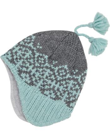 Finkid Bonnet en laine PEPPI smoke blue/charcoal 1612037-152701