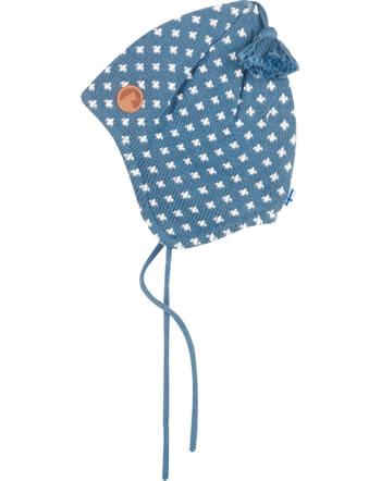 Finkid Strick Zipfelmütze m. Bommel TIPSA blue mirage/offwhite 1612008-148406