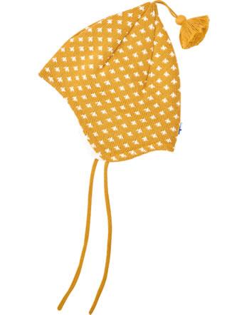 Finkid Strick Zipfelmütze m. Bommel TIPSA golden yellow/offwhite 1612023-609406