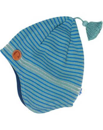 Finkid Knitted Striped Pixie Hat TIPU trellis/seaport 6031129-158102
