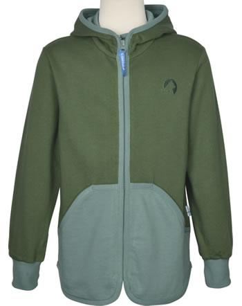 Finkid Sweat-Jacke Zip in JAAKKO bronze green/trellis1122021-333158