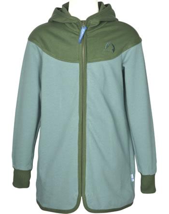 Finkid Sweat-Jacke Zip in JALLO trellis/bronze green 1122022-158333