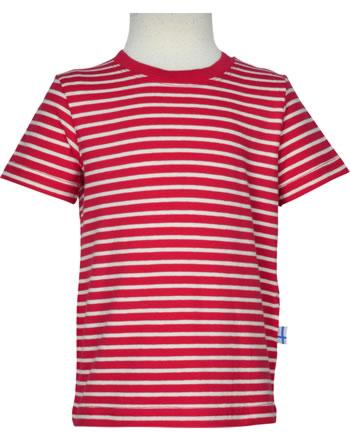 Finkid T-Shirt Kurzarm SUPI Streifen red/offwhite 3041023-200406
