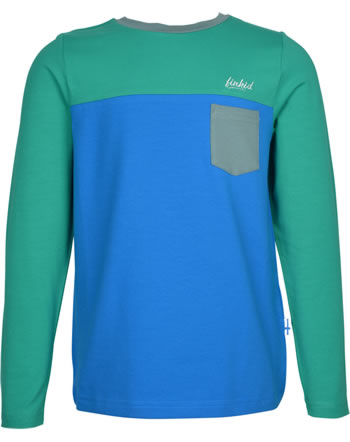 Finkid T-shirt à manches longues PUOMI pepper green/blue 1532006-331103