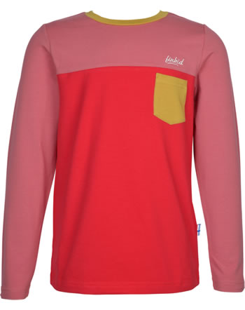 Finkid T-shirt à manches longues PUOMI rose/red 1532006-206200