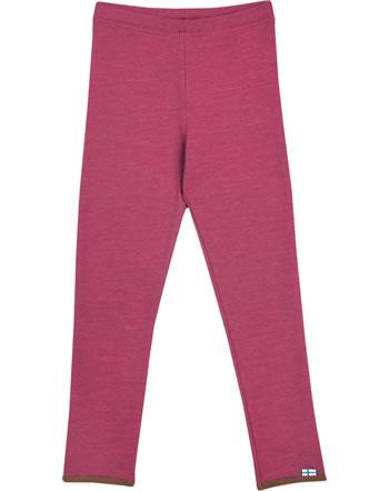 Finkid sport sous-vêtements LEIKKI WOOL beet red/cocoa 1362016-259507