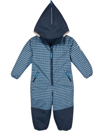 Finkid Winter-Overall TURVA pebbles blue/navy 1213002-164100