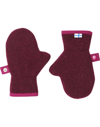 Finkid Woll Handschuhe Fäustlinge NUPUJUSSI WOOL cabernet/p. red 1632007-249247