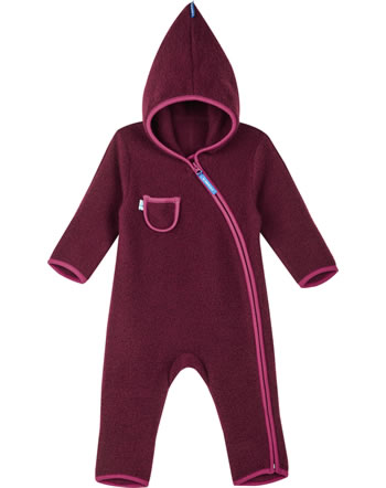 Finkid Wollfleece Overall PUKU WOOL cabernet/persian red 1232004-249247