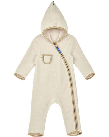 Finkid Wollfleece Overall PUKU WOOL pebble/cinnamon 1232004-443416