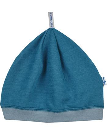 Finkid Bonnet Wooljersey Beanie HITTI SPORT seaport/smoke blue 1612038-102152