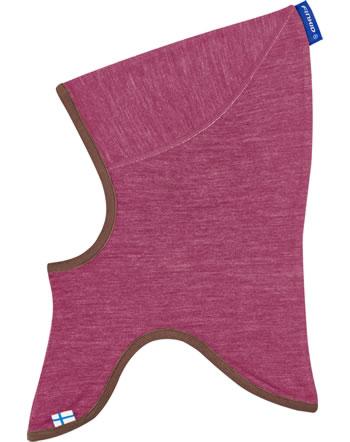 Finkid Doubleface Wooljersey Balaclava LUOLA beet red/rose 1612043-259206