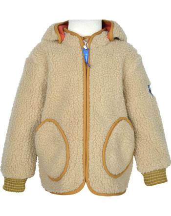 Finkid Zip In Innenjacke Teddyfleece TONTTU NALLE pebble/cinnamon 1122026-443416