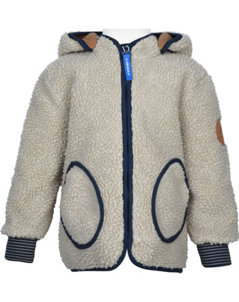 Finkid Zip In Innenjacke Teddyfleece TONTTU NALLE pebble/navy 1122018-443100