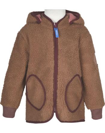 Finkid Zip In Innenjacke Teddyfleece TONTTU NALLE toffee/cabernet 1122018-402249