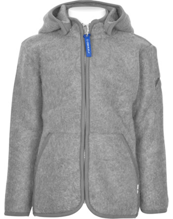 Finkid Zip In Innenjacke Wollfleece LUONTO WOOL charcoal 1122029-701000
