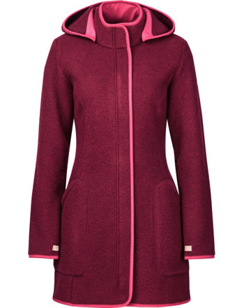 Finside Damen Wollfleece Jacke Zip-In NOORA cabernet/p. red 4115005-249247