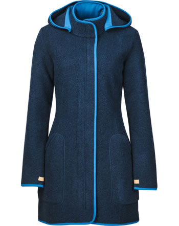 Finside Damen Wollfleece Jacke Zip-In NOORA navy/nautic 4115005-100119