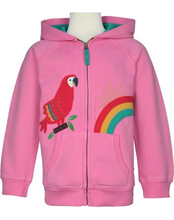 Frugi Veste molletonnée DOROTHY mid pink parrot HDS101MPP