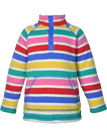 Frugi Pullover m. Teddyfutter SNUGGLE FLEECE rainbow multi stripe SFS101RMP