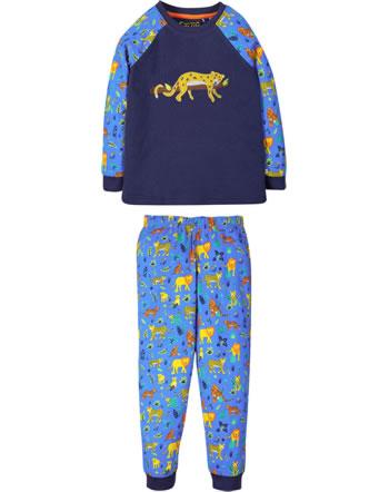 Frugi Pyjama longues JAMIE JIM JAMS indigo leopard PJS110ILO