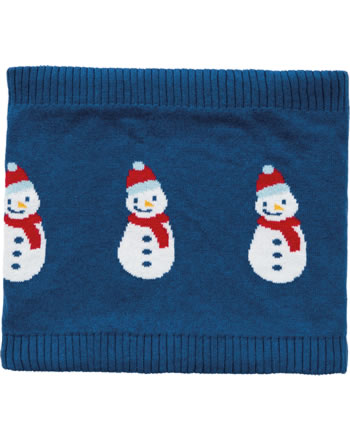 Frugi Écharpe tricotée loop ROBYN SNOOD Snowman space blue