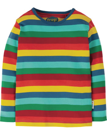 Frugi Shirt manches longues Favourite steely blue multi stripe TTS012SML