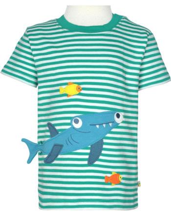 Frugi T-Shirt Kurzarm JOSHUA jewel stripe shark TTS128MGK