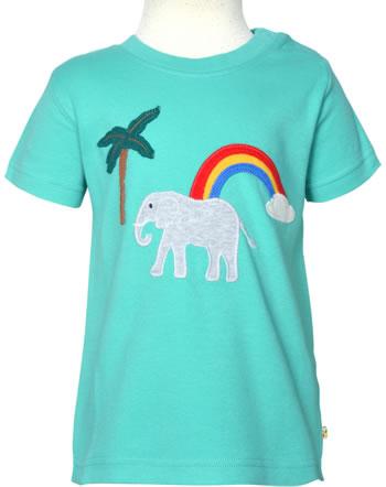 Frugi T-Shirt manches courtes LITTLE CREATURE pacific aqua elephant TTS130PQE