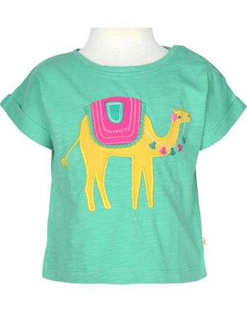 Frugi T-Shirt Kurzarm SOPHIA pacific aqua camel TTS150PQC