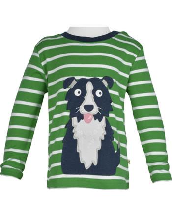 Frugi T-Shirt Langarm DISCOVERY APPLIQUE DOG glen green breton TTA016GBD