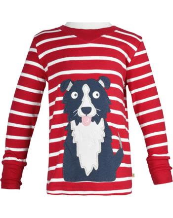 Frugi T-Shirt Langarm EASY ON DOG tango red breton TTA018TND