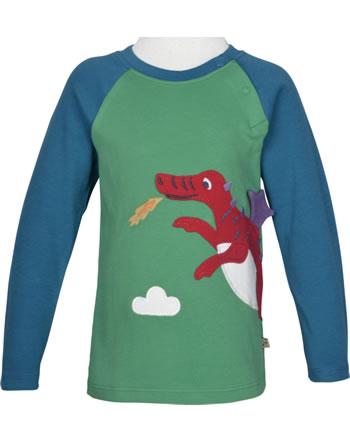 Frugi T-Shirt Langarm Raglan ALBERT DRAGON green TTA027GBG