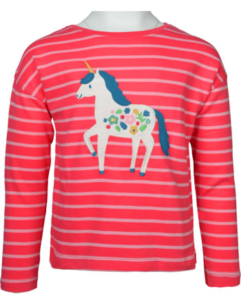 Frugi T-Shirt Langarm TORY BOXY TOP watermelon stripe unicorn TTA139WSU