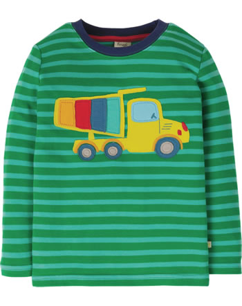 Frugi Shirt manches longues TRUCK ribbit green stripe/truck TTS025RGT