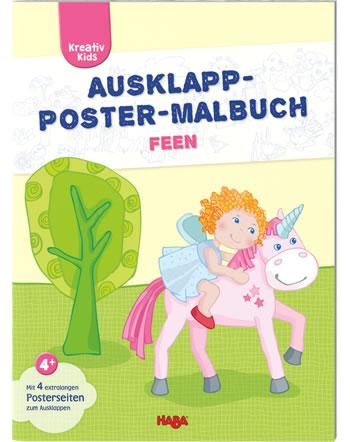 HABA Kreativ Kids - Ausklapp-Poster-Malbuch Feen 304456
