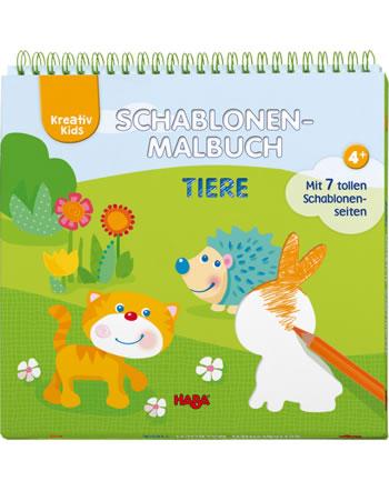 HABA Kreativ Kids - Schablonen-Malbuch Tiere 304642