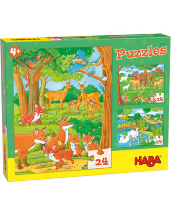 HABA Puzzles Familles d´animaux 305468