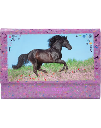 Horses Dreams Letter paper in briefcase purple