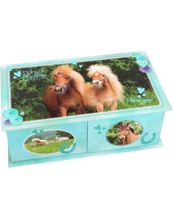 Horses Dreams jewel case turquois