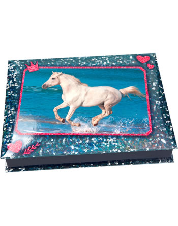 Horses Dreams paper box wit stationary blue