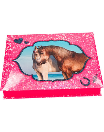 Horses Dreams paper box wit stationary pink