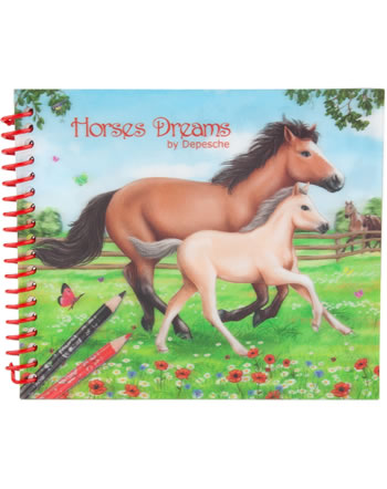 Horses Dreams pocket painting book 3D Mare and foal
