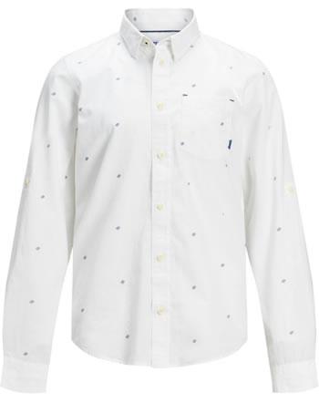 Jack & Jones Junior Shirt long sleeve JCOCARLO white 12168167