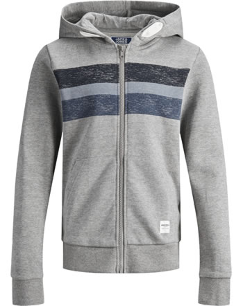 Jack & Jones Junior Sweat Zip Hood Veste JORLANGLEY light grey mel. 12167780