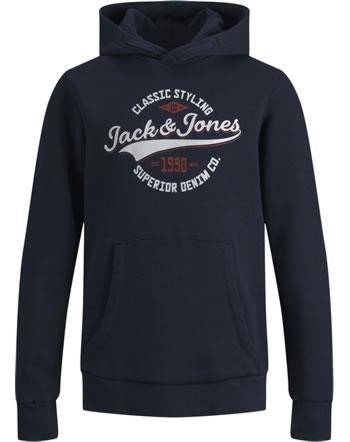Jack & Jones Junior Hoodie Kapuzenpullover JJELOGO NOOS navy blazer 12190422