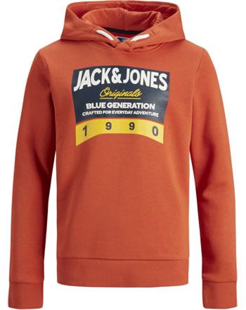 Jack & Jones Junior Sweat Hood JORTINNI burnt ochre 12176885