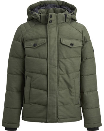 Jack & Jones Junior Jacket with hood JJREGAN PUFFER forest night 12174333