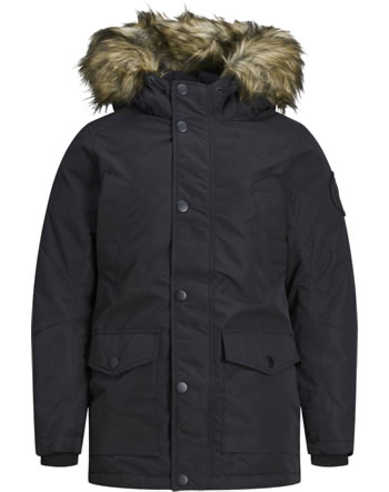 Jack & Jones Junior Jacket with hood JJSKY PARKA black 12174535