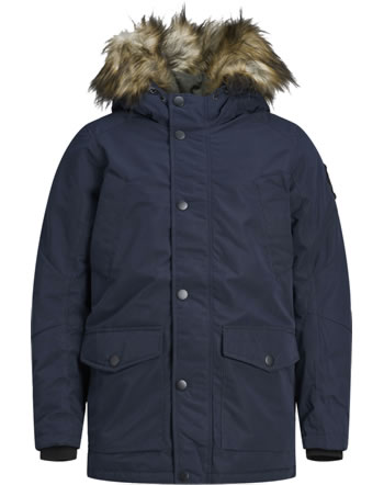 Jack & Jones Junior Jacket with hood JJSKY PARKA navy blazer 12174535